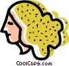 Vector Clipart image  of a woman