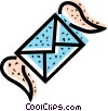 Vector Clip Art graphic  of an airmail