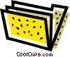 Vector Clip Art image  of a file folder