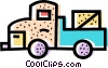 Vector Clip Art graphic  of a Transport Trucks