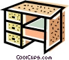 Work desk Vector Clip Art picture