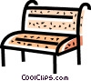 Vector Clip Art image  of a Bar Stools and Benches