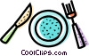 Place Settings Vector Clipart picture