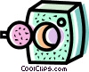 Vector Clip Art graphic  of a Clothes Dryers