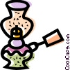Vector Clipart illustration  of a Oil Lamps