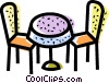 Tables and Counters Vector Clipart illustration