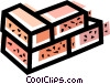 Vector Clipart image  of a Bricks and Mortar