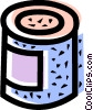 Canned Goods Vector Clipart picture