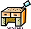 Vector Clip Art graphic  of a Work desks