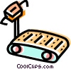 Vector Clip Art image  of a Treadmills
