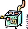 Vector Clip Art image  of a Wood Stoves