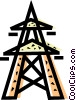 Hydro Towers Vector Clipart illustration