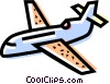 Vector Clipart picture  of a Commercial Jets