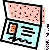 Vector Clipart graphic  of a Postcards