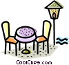 Tables and Counters Vector Clip Art picture