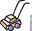 Vector Clipart illustration  of a Lawnmowers