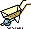 Vector Clipart image  of a Wheelbarrows