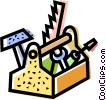 Toolbox with assorted tools Vector Clipart picture