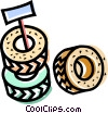 Wheels and Tires Vector Clip Art image