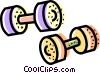 barbells Vector Clipart illustration