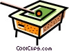 Vector Clip Art graphic  of a Pool table