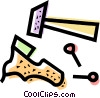 Vector Clipart graphic  of a Cobbler and Shoe Repair