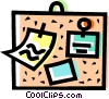 Vector Clip Art graphic  of a Message board