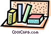 Vector Clipart graphic  of a bookshelf