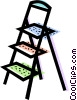 step ladder Vector Clip Art graphic