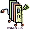 Vector Clip Art image  of a Electric Heater