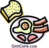 Vector Clip Art graphic  of a Bacon & Eggs