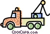 Vector Clip Art image  of a Tow Trucks