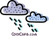 Vector Clipart graphic  of a Rain