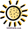 Vector Clip Art image  of a The Sun