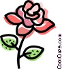 Red Rose Vector Clip Art image