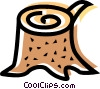 Vector Clip Art image  of a Wood