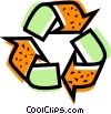 Vector Clipart picture  of a Recycling Symbols