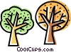 Vector Clip Art graphic  of a Deciduous
