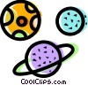 Planetary Bodies Vector Clipart illustration