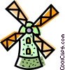 Dutch Windmills Vector Clipart picture