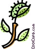 Vector Clipart graphic  of a Exotic Trees and Plants