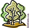 Vector Clipart picture  of a Deciduous
