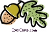 Vector Clipart picture  of a Seeds and Acorns