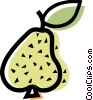 Vector Clipart image  of a Pears