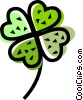 Shamrocks Vector Clip Art graphic
