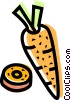 Vector Clip Art picture  of a Carrots