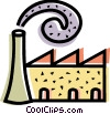 Factories and Refineries Vector Clipart graphic