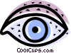 Vector Clip Art image  of a Eyes