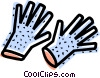Vector Clip Art picture  of a Rubber Gloves