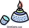 Vector Clipart graphic  of a Bunsen burners